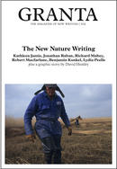 Cover of Granta 102, The New Nature Writing, showing a person in a semi-cleared field