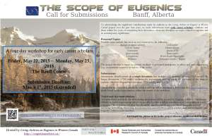 Scope of Eugenics Poster with Mountains